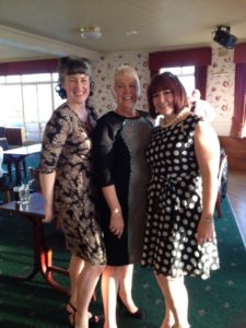 Me, Mum and my sister at Dad's funeral. Our experience of his death made it possible to celebrate him.